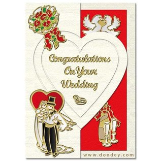 Sticker Stickerset: 6 forskellige dekorative mærkat, Emne: bryllup, kærlighed