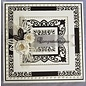 CREATIVE EXPRESSIONS und COUTURE CREATIONS Stamping and embossing stencil, New York Collection, noble frame rectangle