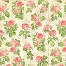 """GRAPHIC 45 Designer Paper """"Tea Botanico - Flora"""", 30,5 x 30,5 centimetri"""