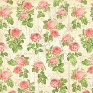 """GRAPHIC 45 Designer Paper """"Botanische Tea - Flora"""", 30,5 x 30,5 cm"""