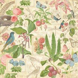 """GRAPHIC 45 Designer de Papel """"Tea Botânico - Spring Duet"""", 30,5 x 30,5 cm"""