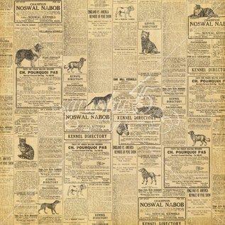 """GRAPHIC 45 Designer papir """"Raining Cats og hunde - Katte Meow"""", 30,5 x 30,5 cm"""