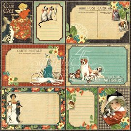 "GRAPHIC 45 Designer Paper ""Raining Cats and Dogs - Four-Legged Friend"", 30.5 x 30.5 cm"