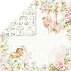 "Designer Papier Scrapbooking: 30,5 x 30,5 cm Papier Designerpapier ""Hello Baby"", 30,5 x 30,5cm"