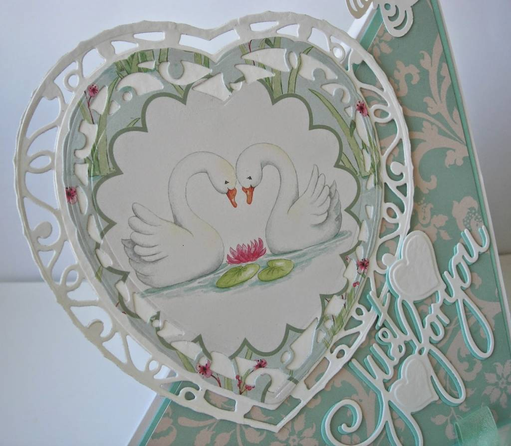Tonic, stamping and embossing stencil, Indulgence Affections heart ...