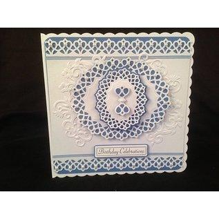 Tonic Tonic, stempelen en embossing stencil, Delicate latice, ovaal stempel, 5 template