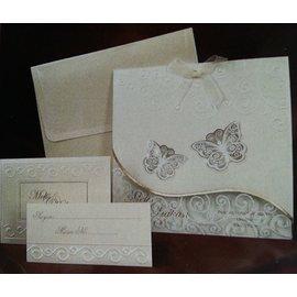 Bastelset: Edele og filigrane sommerfugl kort