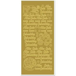 Sticker Ziersticker met Duitse tekst: Gelukkige Verjaardag