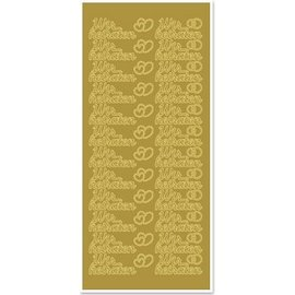 Sticker Ziersticker avec le texte allemand: nous nous marier