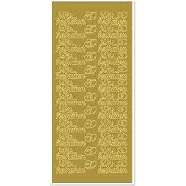 Sticker Ziersticker met Duitse tekst: we gaan trouwen