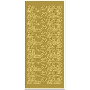 Sticker Ziersticker with German text: we get married
