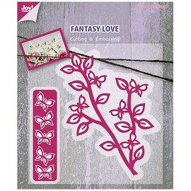 Joy!Crafts / Hobby Solutions Dies Taglio e goffratura stencil ramo con le farfalle