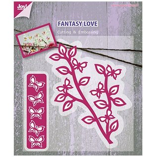Joy!Crafts / Jeanine´s Art, Hobby Solutions Dies /  Cutting and embossing stencil branch with butterflies