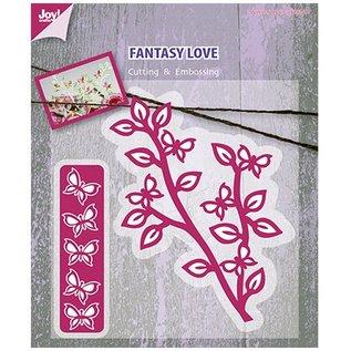 Joy!Crafts / Jeanine´s Art, Hobby Solutions Dies /  Stanz- und Prägeschablone, Zweig mit Schmetterlinge
