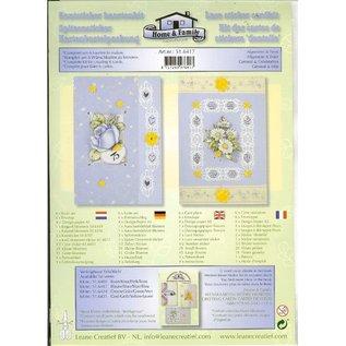 BASTELSETS / CRAFT KITS Card kit med blonder og blomstermotiver Stickers
