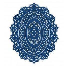 Tattered Lace Ovale lambeaux dentelle antique