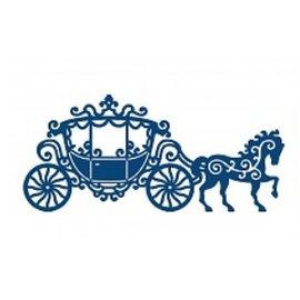 Tattered Lace Lace esfarrapada, filigrane e transporte detalhado com cavalo