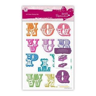 Docrafts / X-Cut Stempel mit große Buchstaben von N bis Z