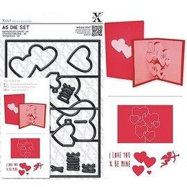 Docrafts / X-Cut X-taglio, template pugno, A5 Set (11pcs) - Pop Up Scheda Amore