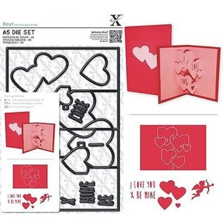 Docrafts / X-Cut X-cut, punch template, A5 Set (11pcs) - Pop Up Card Love