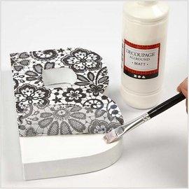DESIGNER BLÖCKE / DESIGNER PAPER Decoupage papir, sortiment sort og hvid, ark 25x35 cm, 8 slags. Sheet