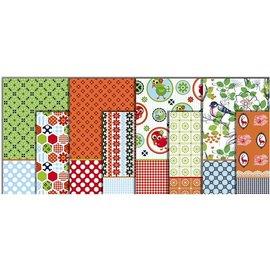 DECOUPAGE AND ACCESSOIRES papier de découpage, la gamme de couleurs, feuille 25x35 cm, 8 trier. Feuille