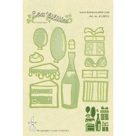 Leane Creatief - Lea'bilities und By Lene Punching - and embossing stencil, Party
