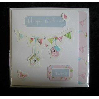 Docrafts / Papermania / Urban Klare frimærker, Lucy Cromwell - Bunting, 15 forsøgspersoner