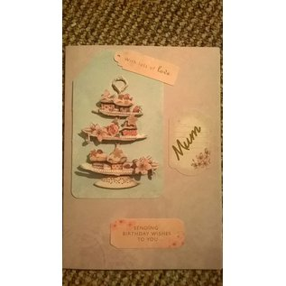 Docrafts / Papermania / Urban Transparent Stempel, Lucy Cromwell - Bunting, 15 Motive