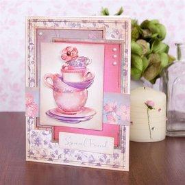 Stempel / Stamp: Transparent Selos claros, Lucy Cromwell - Bunting, 10 projetos, xícaras de chá e flores