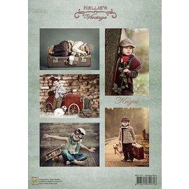 Nellie Snellen Decoupage folhas A4 - Meninos do vintage