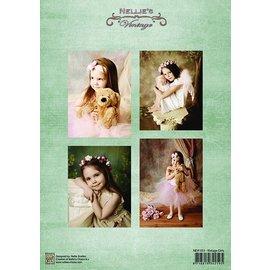 Nellie Snellen Decoupage folhas A4 - vintage das meninas