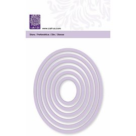 Cart-Us Esteira de corte, moldura oval, tamanho 6