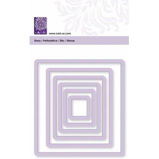 Cart-Us Schneideschablone, Quadrat , 6 Größe