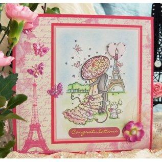 Wild Rose Studio`s Stamp sæt sæt parisisk spadseretur, størrelse A7, Clear stamps