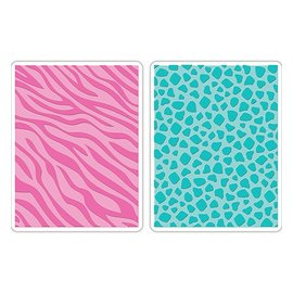 Sizzix Tim Wood, 2 embossing folders, 2PK, 15.56cm x 11.11cm