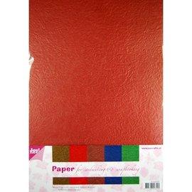 Karten und Scrapbooking Papier, Papier blöcke Paper Blossom papierset, 5 x 2 Bogen (A4) warme farbe