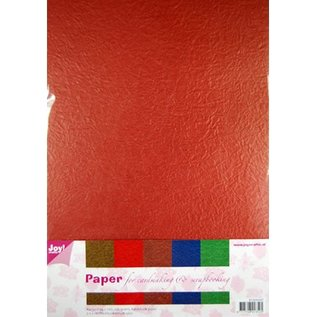 DESIGNER BLÖCKE / DESIGNER PAPER Paper Blossom Papierset, 5 x 2 feuilles (A4) couleur chaude
