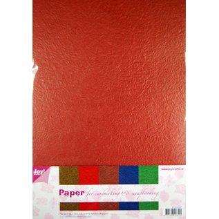 DESIGNER BLÖCKE / DESIGNER PAPER Papir Blossom Papierset, 5 x 2 ark (A4) varm farve