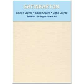 DESIGNER BLÖCKE / DESIGNER PAPER 10 sheets A4, 250gr / sqm, on both sides with satin linen embossing, cream