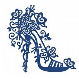 Tattered Lace Skæring og prægning stencils, Tattered Lace, høj hæl Charisma