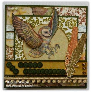DESIGNER BLÖCKE / DESIGNER PAPER Designer Paper block Owls field, with owl motifs