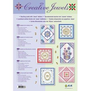 Materialset: Jubiläum / Set für 6 leuchtenden Wünschkarten