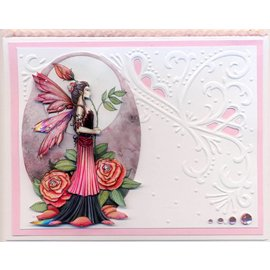 Fantasy Fairies 3D - 1 (incl. Stickers) 3D Paper + 6 arc mirror stickers