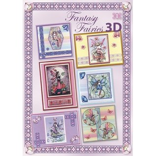 Fantasy Fairies 3D - (. Inkl Stickers) 1 3D papir + 6 bue spejl klistermærker