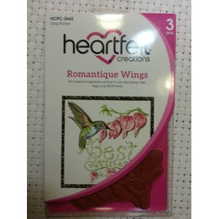 Heartfelt Creations aus USA Gummistempel, 3 motiver Romantique Wings