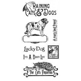 GRAPHIC 45 Carimbo de borracha, Raining Cats & Dogs