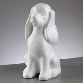 Objekten zum Dekorieren / objects for decorating Styroporform, Hund, 240 mm,