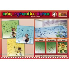 Bücher und CD / Magazines Een boek met 16 kleuren van de achtergrond met borduren!