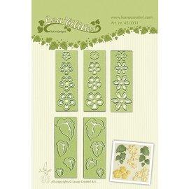Leane Creatief - Lea'bilities Lea'bilitie® Petites fleurs et feuilles gaufrage et gabarit de découpe